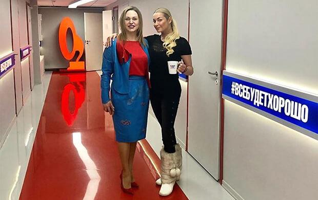 Анастасия Волочкова и Алла Довлатова «зажгли» в эфире «Русского Радио» - Новости радио OnAir.ru